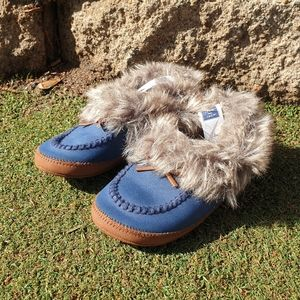 Janie And Jack toddler boy's slippers shoes Sz 8